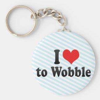I Love to Wobble Keychain