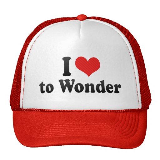 I Love to Wonder Trucker Hat