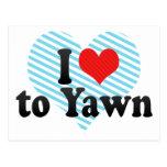 I Love to Yawn Postcards
