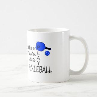 i love to you can lets go play pickleball blue coffee mug