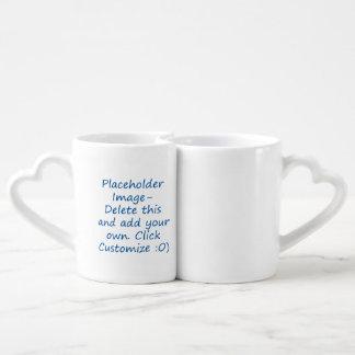 i love to you can lets go play pickleball blue couples' coffee mug set