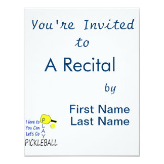 i love to you can lets go play pickleball blue yel 4.25x5.5 paper invitation card