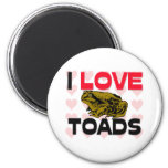 I Love Toads 2 Inch Round Magnet