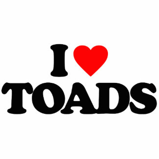 I LOVE TOADS ACRYLIC CUT OUT