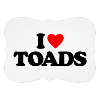 I LOVE TOADS ANNOUNCEMENT