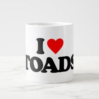 I LOVE TOADS 20 OZ LARGE CERAMIC COFFEE MUG