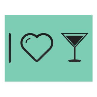 I Love Toast Drinks Postcard