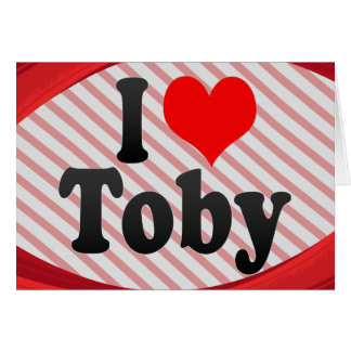 I love Toby Stationery Note Card