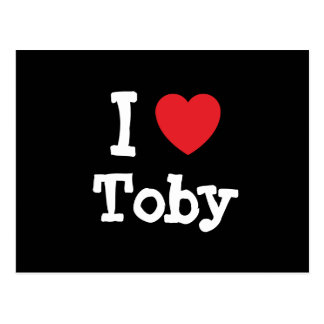 I love Toby heart custom personalized Postcard