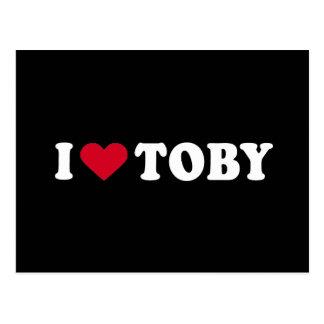 I LOVE TOBY POSTCARD