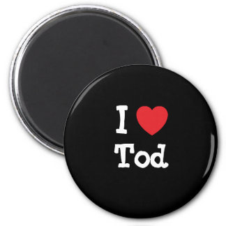 I love Tod heart custom personalized 2 Inch Round Magnet