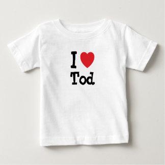 I love Tod heart custom personalized Baby T-Shirt
