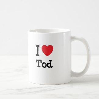 I love Tod heart custom personalized Classic White Coffee Mug