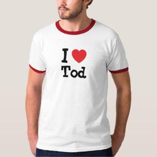 I love Tod heart custom personalized Tshirt