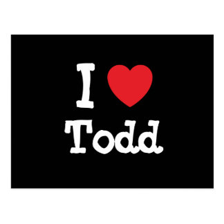 I love Todd heart custom personalized Postcard