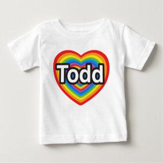 I love Todd. I love you Todd. Heart Baby T-Shirt