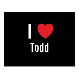 I love Todd Postcard