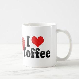 I Love Toffee Classic White Coffee Mug