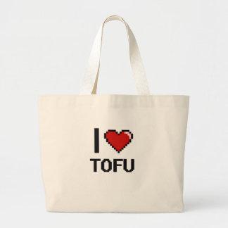 I Love Tofu Jumbo Tote Bag
