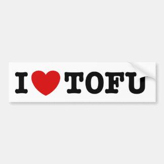 I Love Tofu Car Bumper Sticker