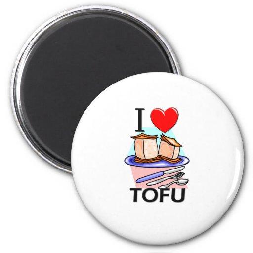 I Love Tofu Fridge Magnet