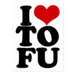 I Love Tofu Funny Vegan humor Postcard