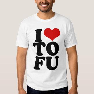 I Love Tofu Funny Vegan humor Shirt