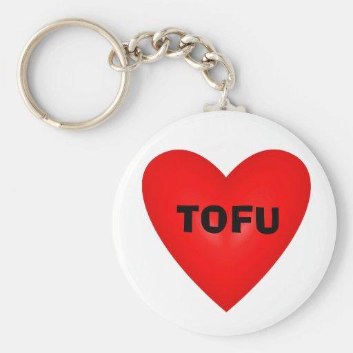 i love tofu key chain