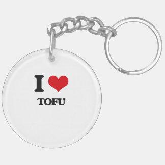 I love Tofu Double-Sided Round Acrylic Keychain