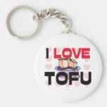 I Love Tofu Keychains