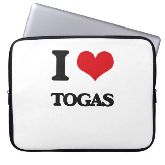 I love Togas Laptop Computer Sleeve