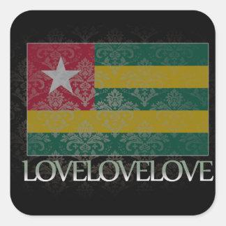 I love Togo Cool Square Sticker