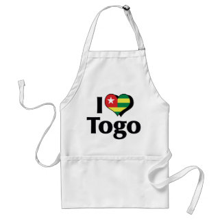 I Love Togo Flag Adult Apron