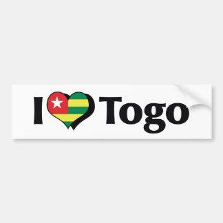 I Love Togo Flag Bumper Sticker