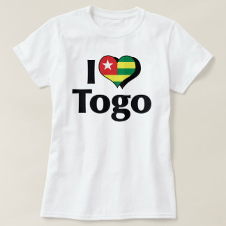 I Love Togo Flag Shirt