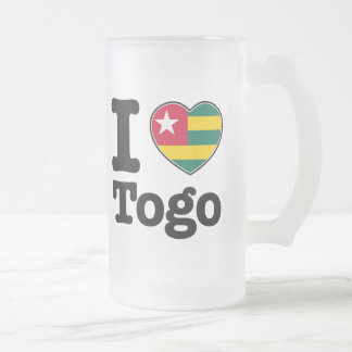 I love Togo Frosted Glass Beer Mug