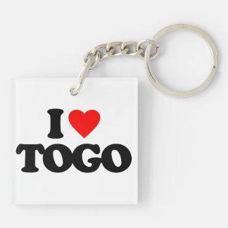 I LOVE TOGO Double-Sided SQUARE ACRYLIC KEYCHAIN