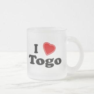 I Love Togo 10 Oz Frosted Glass Coffee Mug