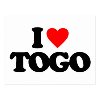 I LOVE TOGO POST CARDS
