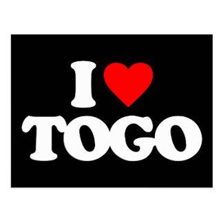 I LOVE TOGO POSTCARD