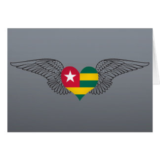 I Love Togo -wings Greeting Card