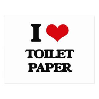I love Toilet Paper Postcard