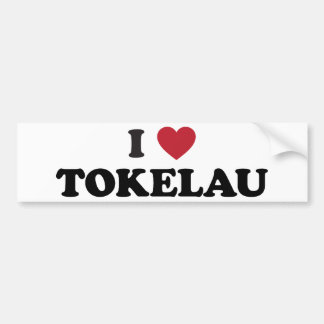 I Love Tokelau Bumper Sticker