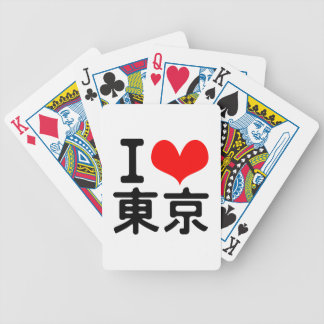 I Love Tokyo Bicycle Playing Cards
