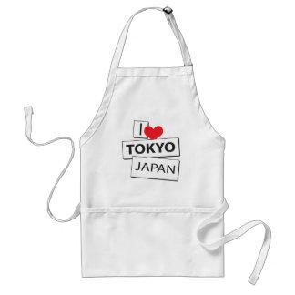 I Love Tokyo Japan Adult Apron