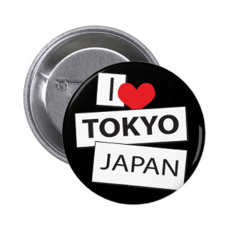 I Love Tokyo Japan Button