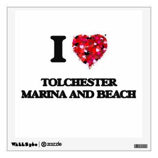 I love Tolchester Marina And Beach Maryland Wall Graphics