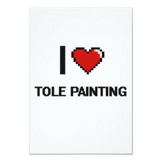 I Love Tole Painting Digital Retro Design 3.5x5 Paper Invitation Card