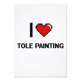 I Love Tole Painting Digital Retro Design 5x7 Paper Invitation Card