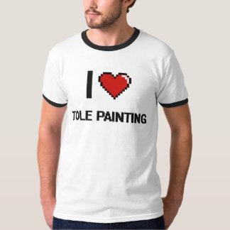 I Love Tole Painting Digital Retro Design Shirts